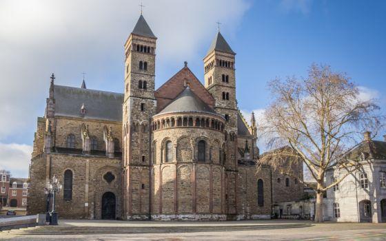 Saint Servatius church at the Vrijthof in Maastricht